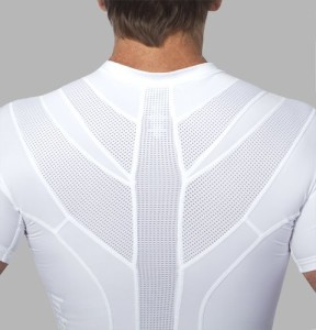 IntelliSkin Men's PostureCue V-Tee White..., Thoracic Posture Brace