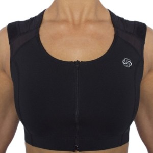 posture correcting sports bra with zip for women
